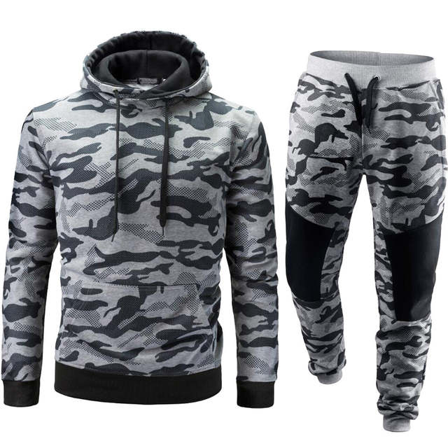 best place for lace up in online sale 2018 brand sporting suit men warm hooded tracksuit track polo men's sweat  suits set camouflage large size sweatsuit male 2XL