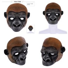 Animal Mask Cosplay orangutans Mask Animal Latex Masks Helmet Halloween Party Props Adult Kids Decortion Tricky Funny masks(China)