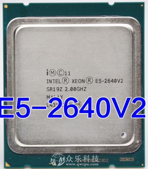 Intel Xeon E5 2640 V2 Processor 2.0GHz 20M LGA 2011 SR19Z E5-2640 V2 CPU E5-2640V2