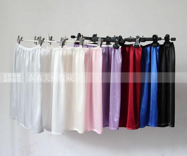 Forro de la falda del todo-fósforo de deslizamiento interior sedoso medio slip enagua básica busto falda corta