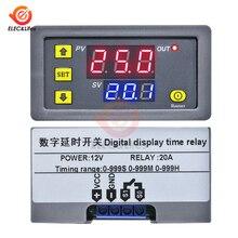 DC 12V AC 110 220V Digital Time Delay Relay Module Cycle del