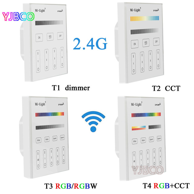 Mi light 24g t1t2t3t4 4 zone smart touch panel led dimmer mi light 24g t1t2t3t4 4 zone smart touch aloadofball