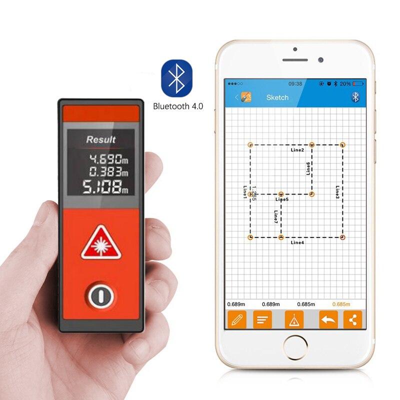 все цены на Mileseey 20M/40M Touch screen Bluetooth Digital Laser Distance Meter trena Laser Rangefinder Lazer Metre Pro