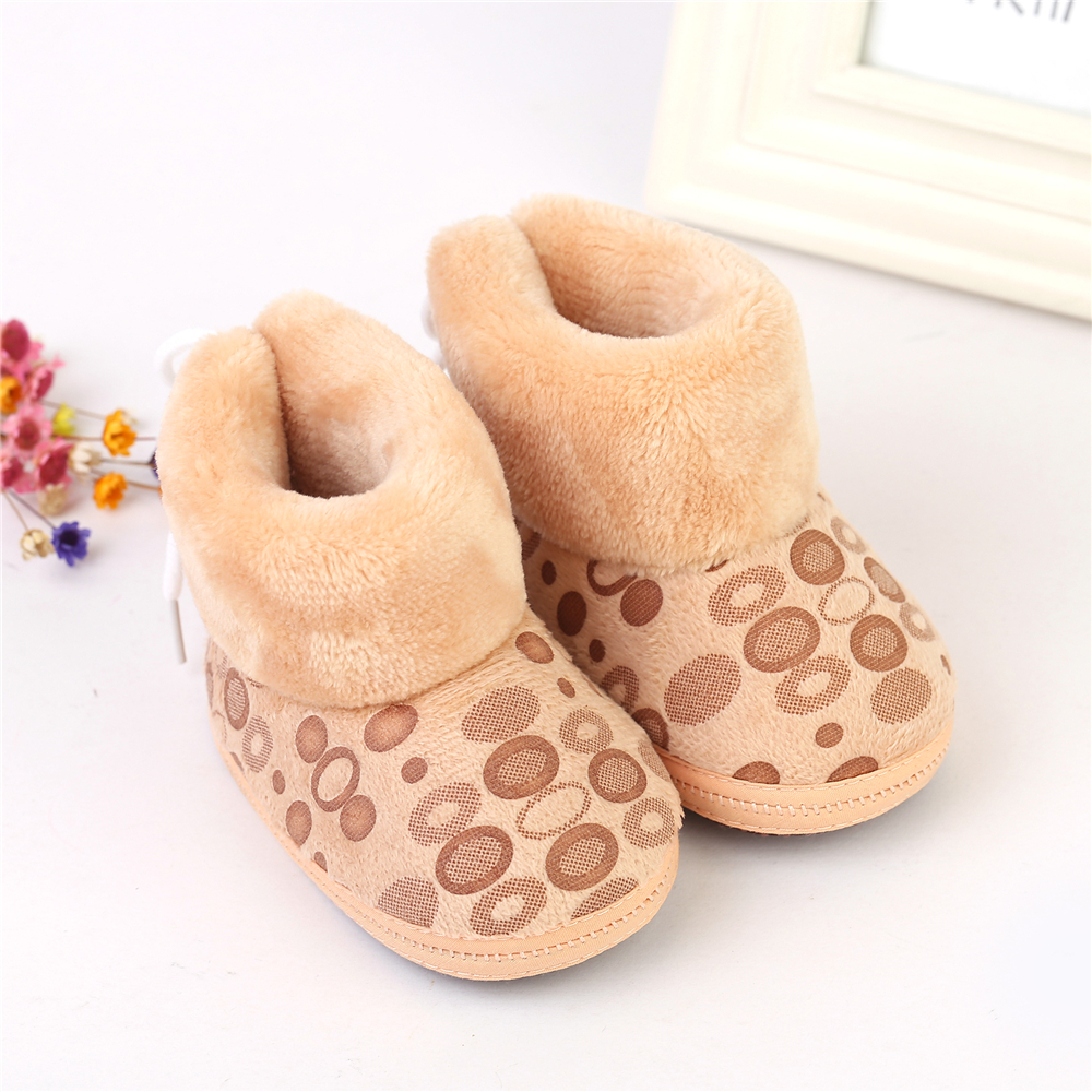 Toddler Bottom Kids Baby Snow Prewalker Shoes Winter Warm Cute Sole Crib Boots 2018 winter