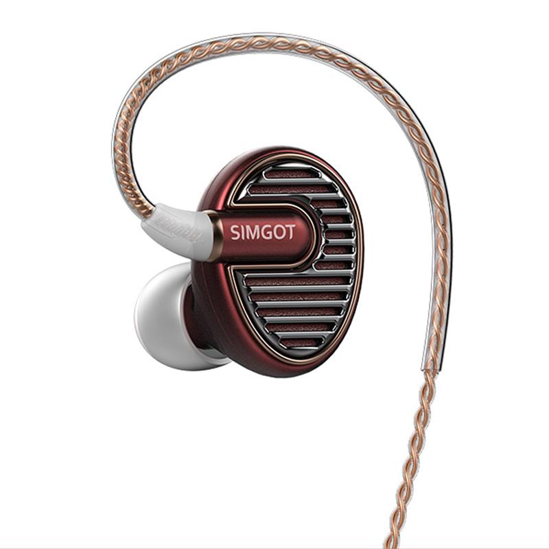 Prix pour 2017 Date 100% D'origine SIMGOT EN700 BASSE Composite Titanium Diaphragme Dans L'écouteur D'oreille DIY HIFI DJ Écouteurs En Métal Écouteurs