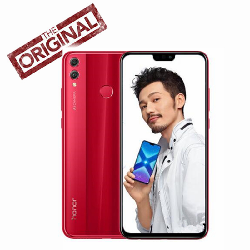 Huawei Honor 8X Mobile Phone 6 5 inch Screen 3750mAh Battery Android 8 1  Octa Core 1 5GHz Smart Phone Dual Black 20 0+2 0MP