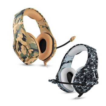 qijiagu5PCS Camouflage PS4 Headset Bass Gaming Headphones Game Earphones Casque with Mic for PC Mobile Phone for Xbox One Tablet