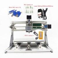 mini CNC 2417 + 2500mw laser CNC engraving machine Pcb Milling Machine Wood Carving machine with GRBL control