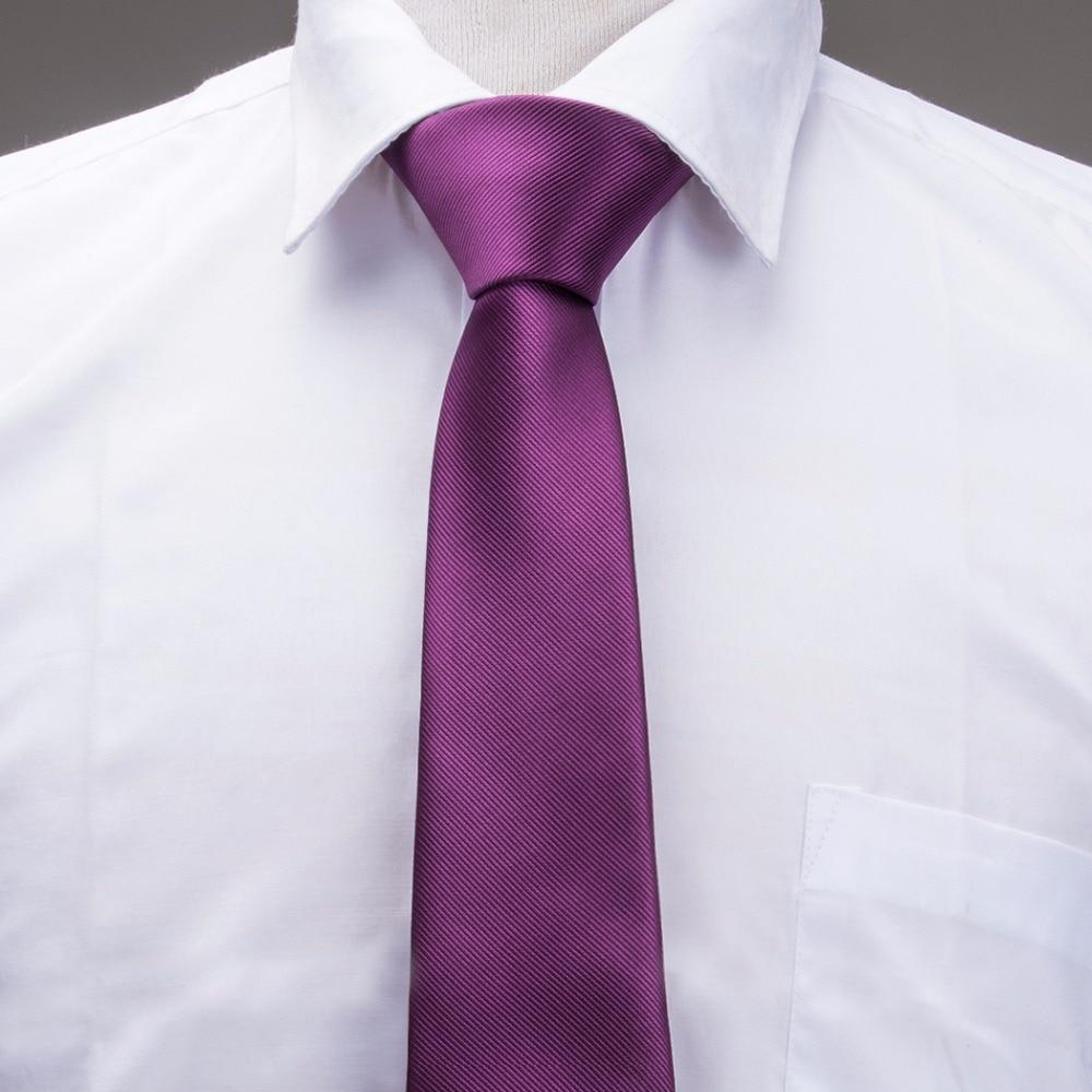 Bekleidung Zubehör 2018 Mode Schlanke Krawatte Dark Purple Solide Plain Dünne Schmale Gravata Silk Jacquardwebstuhl Gesponnenen Krawatten Für Männer 6 Cm Breite Beiläufiger E-002
