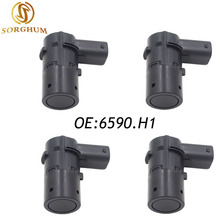 4PCS 6590.H1 Fits Peugeot 207CC Citroen C4 C5 Parking Sensor PDC 66206989068 8200417705 7701062074 7711135326,9653849080,6590H1