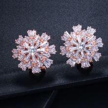 Женские серьги гвоздики из розового золота 23x23 см 4/5 дюймов