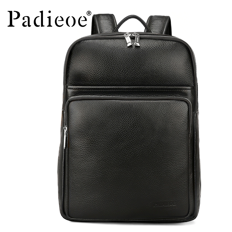 Padieoe Men Backpack Luxury Genuine Leather Backpack Male Travel Shoulder  Bag Large Capacity Laptop Bags Student Schoolbag -in Backpacks from Luggage    Bags ... d87c840b6e691