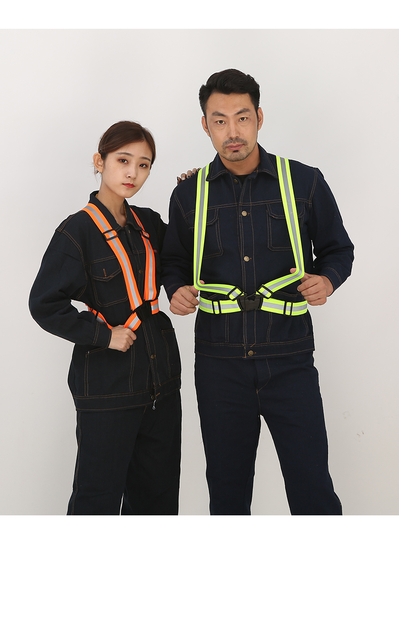 Unisex Outdoor Reflective Belt Elasticity  Ribbon  Traffic Reflective Coat Night Safety Clothes  Riding Car Reflector Vest