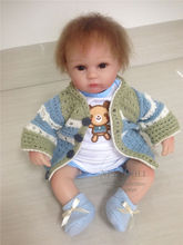 Angela Style 42cm 17inch Bonecas Silicone Infantil With Handmade Sweater Coat  Realistic Reborn Baby Doll With Magnetic Pacifier