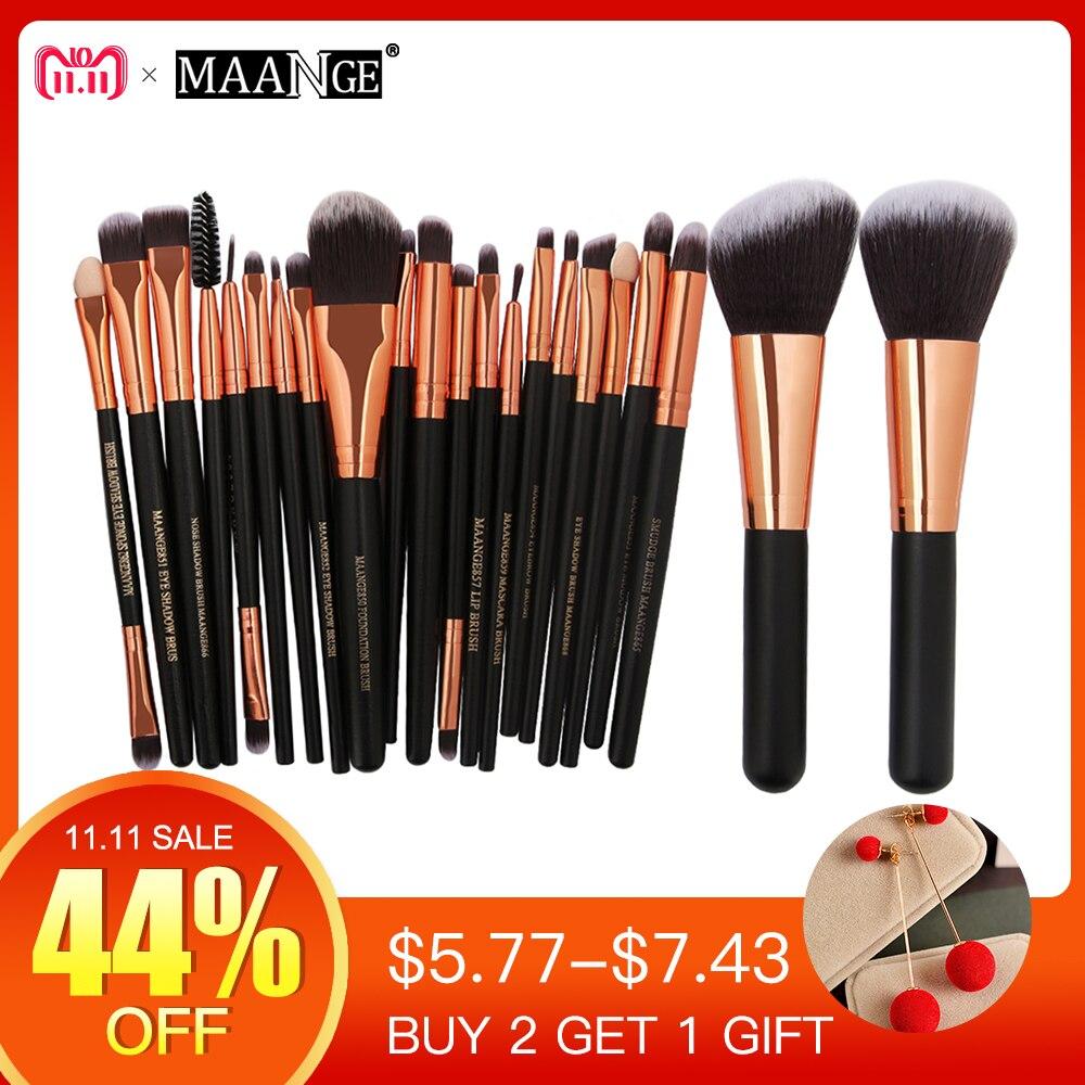 MAANGE 20/22 pcs Beleza Makeup Brushes Set Cosméticos Fundação Mistura de Blush Em Pó Da Sombra de Olho Lábio Compo a Escova kit de ferramentas de Maquiagem