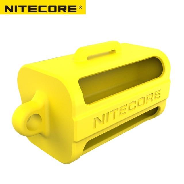 Nitecore NBM40 Silicon case holder Storage box Portable Battery Magazine 18650 Battery case