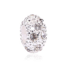 European Alloy Delicate Metal Rhinestone Bead and Pendant Fits Pandora Bracelet & Bangles for DIY Jewelry Making Charms(China)