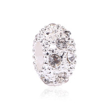 European Alloy Delicate Metal Rhinestone Bead and Pendant Fits Pandora Bracelet & Bangles for DIY Jewelry Making Charms