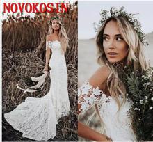 Элегантные кружевные свадебные платья в стиле бохо 2019 сельском