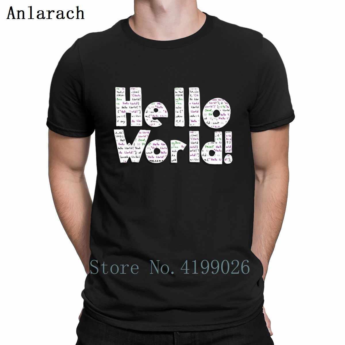 Imprimer bonjour monde t-shirt bâtiment conception Tee haut Java programmeur ordinateur bonjour monde Code Linux Geek t-shirt modèle