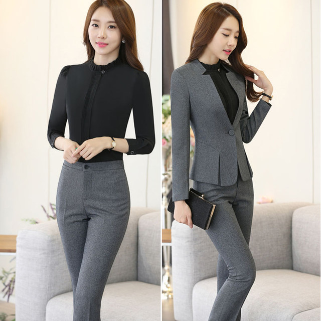 Online Shop High-grade Two Piece Formal Pant Suit Ladies For ...