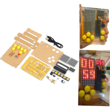 DIY Kit Tetris/Snake/Plane/Racing Game Kit DIY Electronics Experiment Kit with Shell Button Control MCU Computer Game Machine