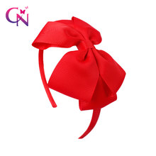 Girls Fashion 4.5 inch Headband Ribbon 20 Colors Covered Hairband With Boutique Grosgrain Ribbon Bow Hairbands(China)