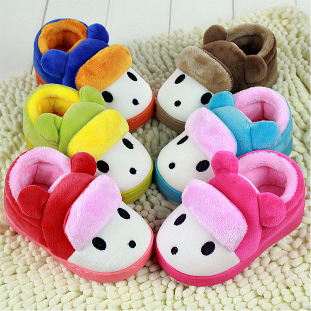 Kids Winter Home Shoes For Children 'S Cotton Slippers Soft Bottom Warm Indoor Slippers Autumn/Winter Baby Boys Girls Shoes