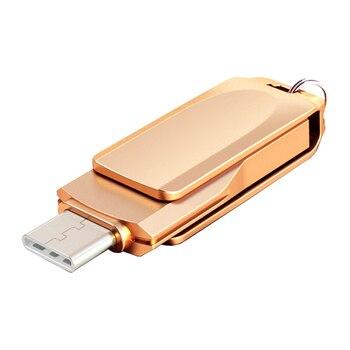 Creative USB Flash Drive Type C 128GB 64GB 16GB 32GB USB C Pendrive 64GB Pen Drive USB C For Android Phone