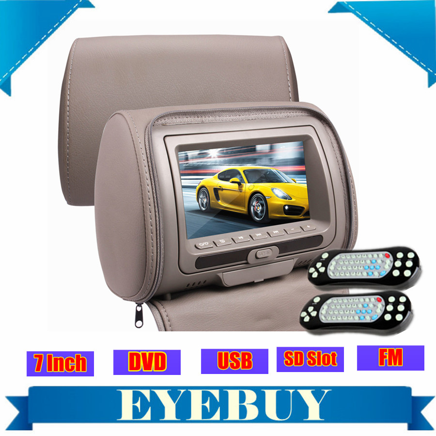 universal sony lens Auto car headrest monitor DVD player 7 inch USB SD game automotive car