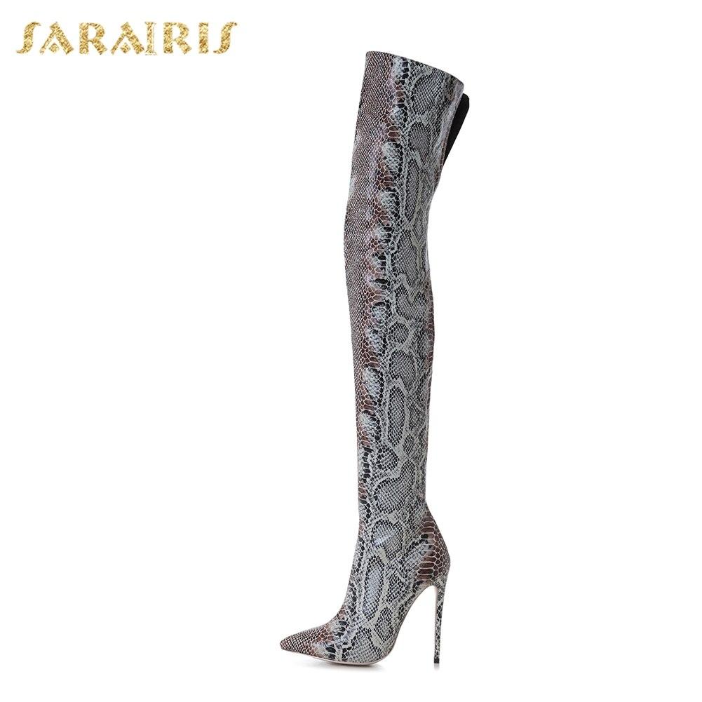 Bout Sarairis De Grande Mince 43 Taille Genou Talons Le 33 Chaussures Hauts Pointu Bottes Femme Sur Multi Femmes rqfxrA