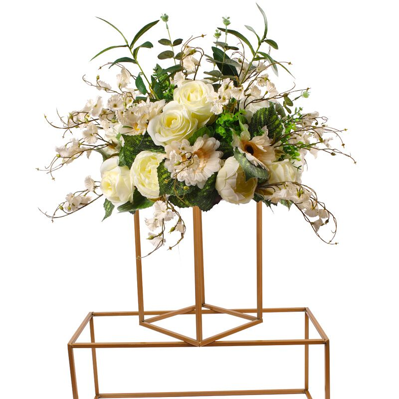 new style Wedding Metal Flower Vase Column Stand for Wedding Centerpiece Decoration 10pcs/lot