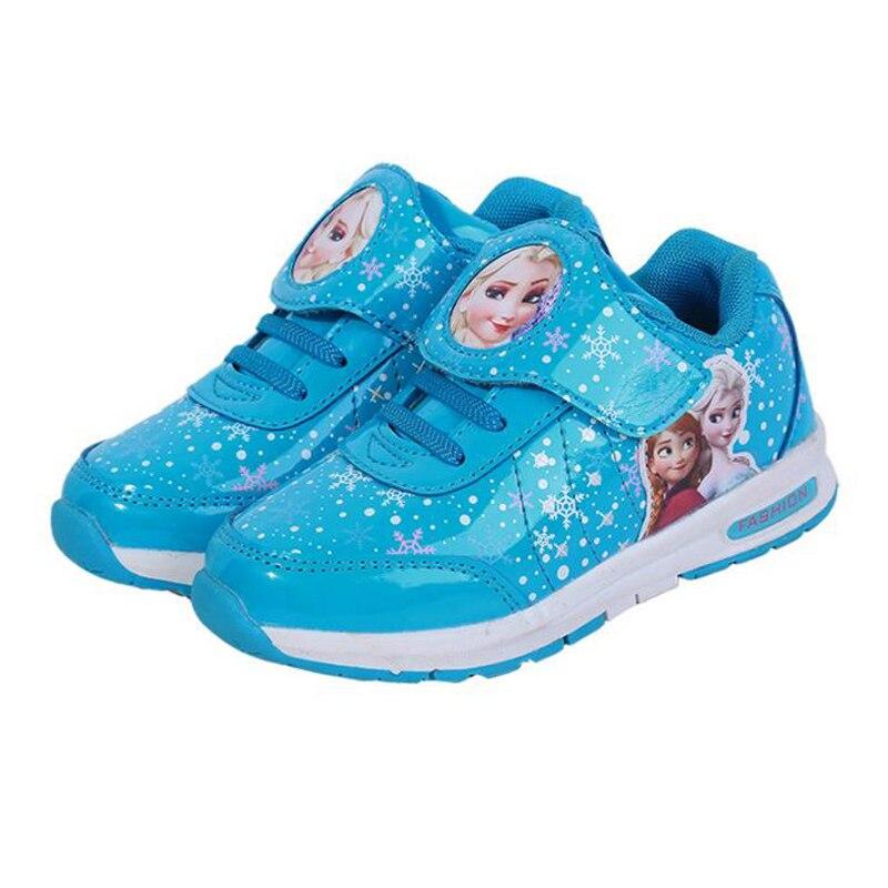 US $18.71 |Elsa Prinzessin Mädchen Schuhe für Kinder 2017 Frühling Herbst Cartoon Anna Sport Schuhe für Babys Kinder Turnschuhe Freizeitschuhe in Elsa