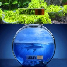 1PC Multi-Functional LCD 3D Digital Electronic Temperature Measurement Fish Tank Temp Meter Aquarium Thermometer