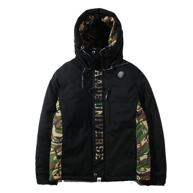 Winter aape Camouflage patchwork bape embroidery letter casual thickening thermal cotton-padded jacket wadded male 549  -  New One store