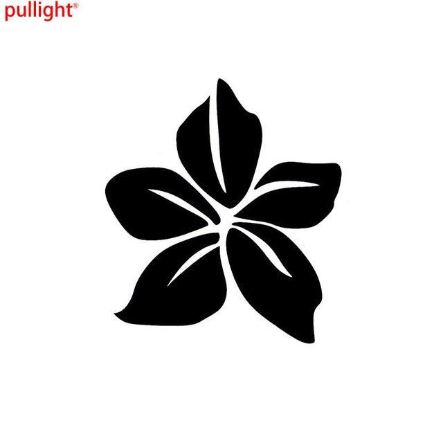 11 312 7cm creative plumeria flower car stickers interesting motorcycle vinyl decals