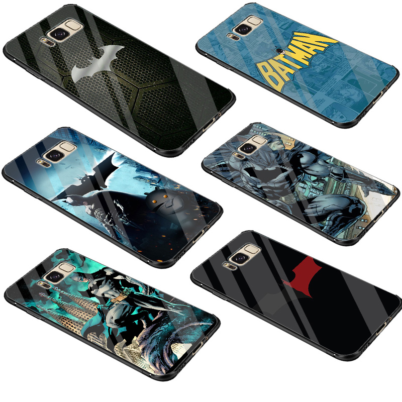 Cool <font><b>Marvel</b></font> Batman <font><b>Logo</b></font> Fashion <font><b>Case</b></font> Glass For <font><b>Samsung</b></font> <font><b>Galaxy</b></font> A10 A20 <font><b>A30</b></font> A40 A50 A60 A70 S7 Edge S8 S9 S10 Plus Note 8 9 Cover image