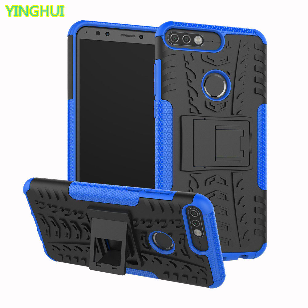 huawei y7 prime 2018 case huawei honor 7c case shockproof cases pc tpu rugged duty hard cover