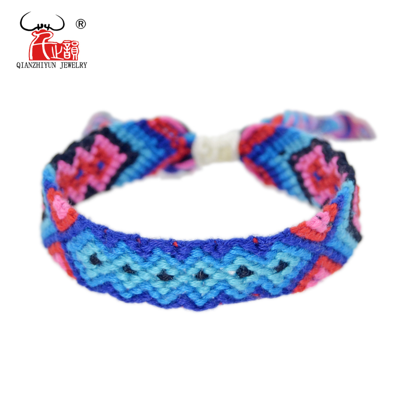 Cotton Friendship Bracelets Anklet Bracelets Polynesia Style Weave Woven String Handmade Bracelet For Women and Men