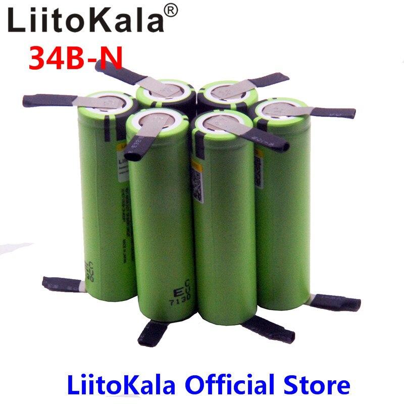 2018 6 stücke LiitoKala NEUE original NCR18650B 3,7 v 3400 mah 18650 wiederaufladbare lithium-batterie für batterie + DIY nickel stück