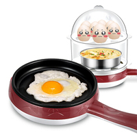 Household Multifunction Mini Omelette Machine Egg Boiler Electric Frying Pan Hot Milk Hot Meals Breakfast Machine Non stick Pan