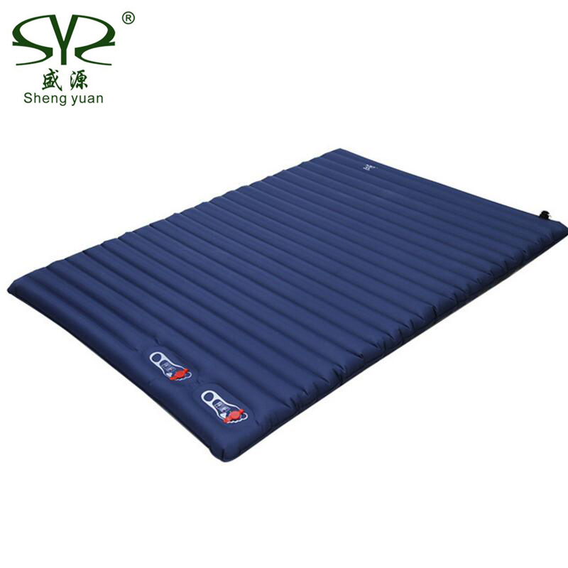 Thick 10CM Inflatable Cushion Camping Mat Portable Sleeping Pad Outdoor Tent Double Inflatable Bed Mattress Beach Picnic Mat naturehike inflatable mattress with pillow beach mat double inflatable cushion outdoor tent camping mat air bed sleeping pad