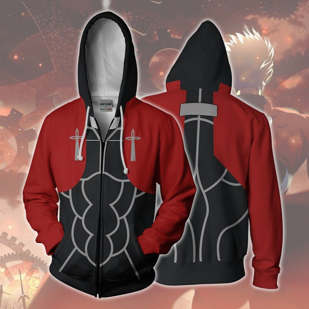 BIANYILONG 2019 new hooded men Archer 3D printed hoodies tracksuit zipper hoody hip hop tops free