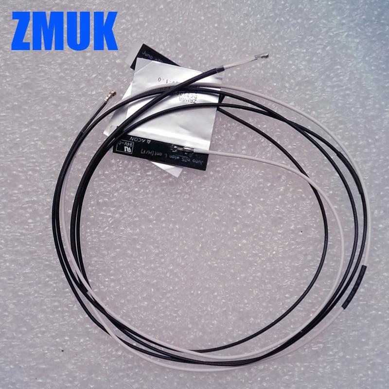 Een paar I-PEX4 2.4 / 5g WiFi-antennes voor NGFF M.2 draadloze kaart 7260 7265 BCM94350 BCM94360-serie, P / N DC33001FD00 DC33001F300