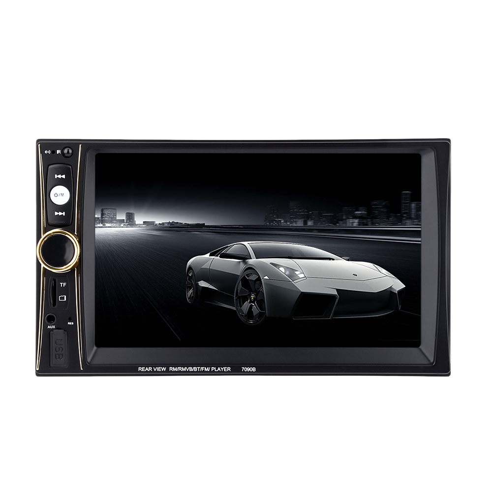 7090B 6.5 inch Vehicle MP5 Player 2 Din Bluetooth Multimedia FM Radio Rear View Camera Remote Control rk 7157b 7inch 2din car mp5 rear view camera fm am rds radio tuner bluetooth media player steering wheel control