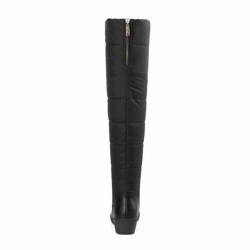 ASUMER 2020 Yeni Sıcak Kar Botları tutmak Kadınlar Için platform ayakkabılar Uyluk Yüksek Çizmeler Zip Kalın Kürk Diz Çizmeler Üzerinde EURO Boyutu 35-44