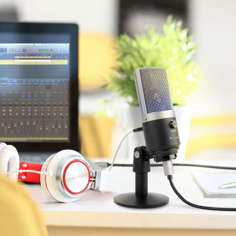 Image 3 - FIFINE USB condenser microphone for computer professional recording MIC for Youtube Skype meeting game one line teaching 670 1-in Microphones from Consumer Electronics