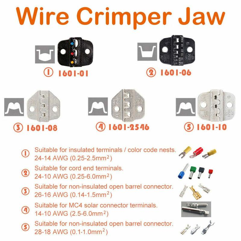 Insulated Wire Crimper Jaw Mold Ferrule Die Crimping Alloy Steel Industrial