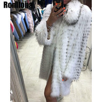 New Women Real Raccoon Dog Fur Coat With Turn Down Collar Winter Warm Thick Raccoon Fur Jacket Fashion Charm For Female HZ 018