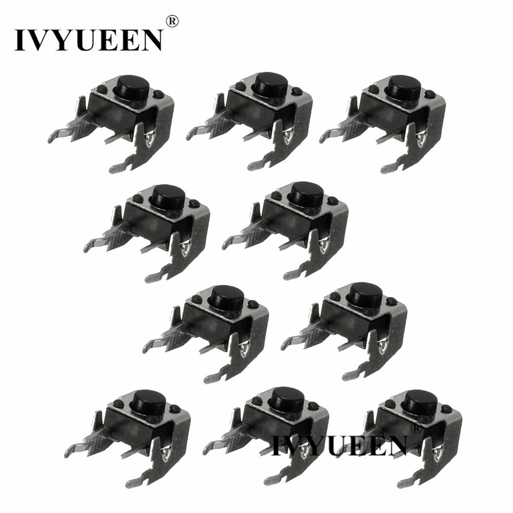 IVYUEEN 10 pcs For Microsoft Xbox 360 One Controller Original RB LB Bumper Button Switch Repair Parts Black